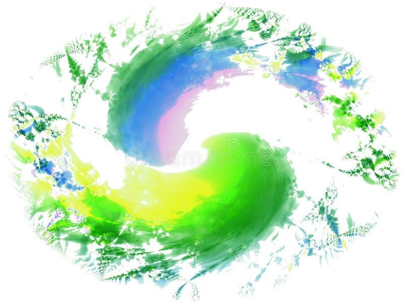 2 φρέσκα splatters χρωμάτων βουρτσών διανυσματική απεικόνιση