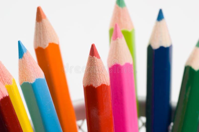 2 χρωματισμένα μολύβια στοκ φωτογραφίες