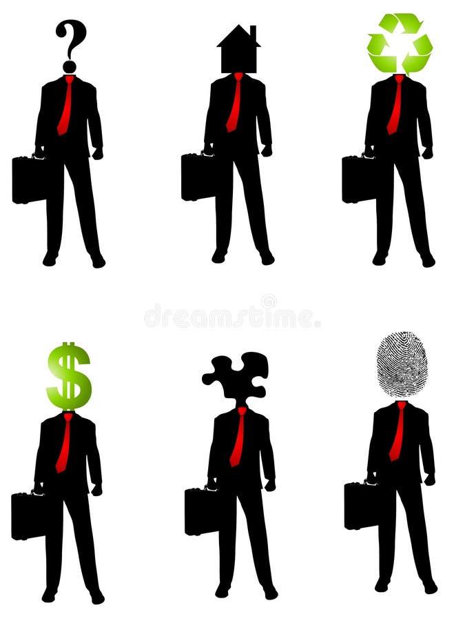 2 абстрактных принципиальной схемы бизнесмена иллюстрация вектора