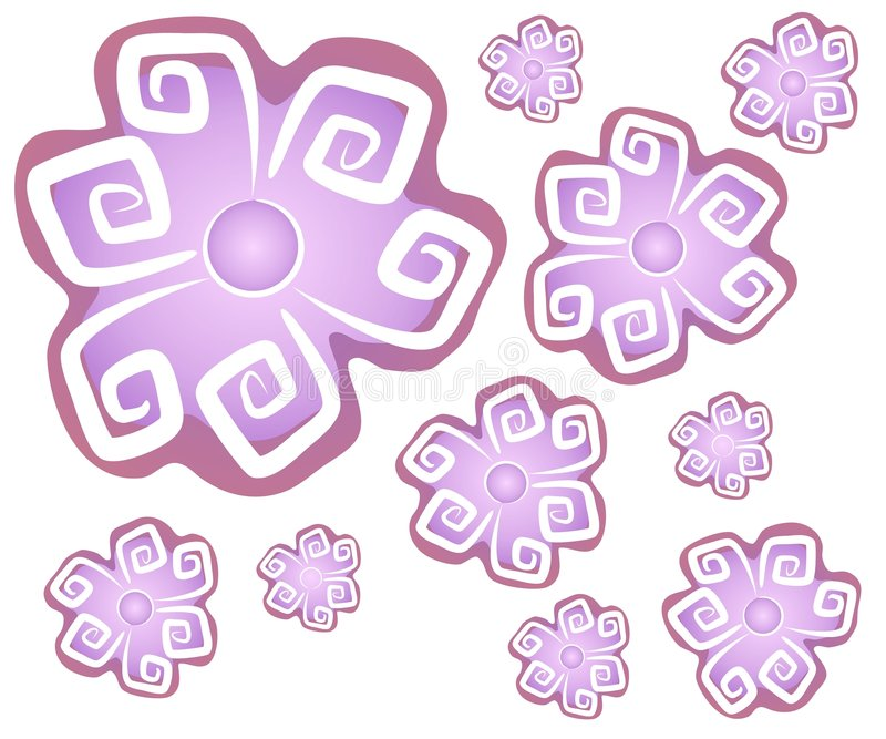2 абстрактных цветка предпосылки бесплатная иллюстрация