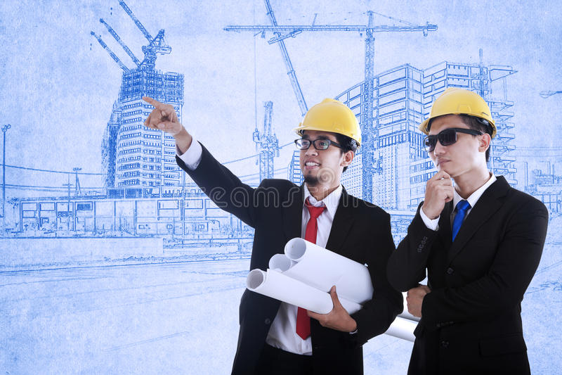 2 архитектора стоковое изображение