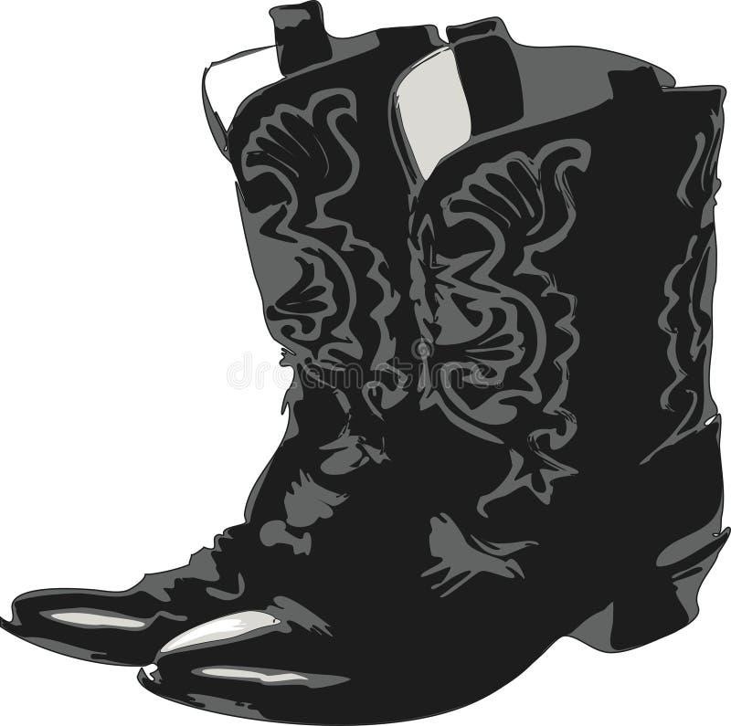 2 ботинка западного иллюстрация штока