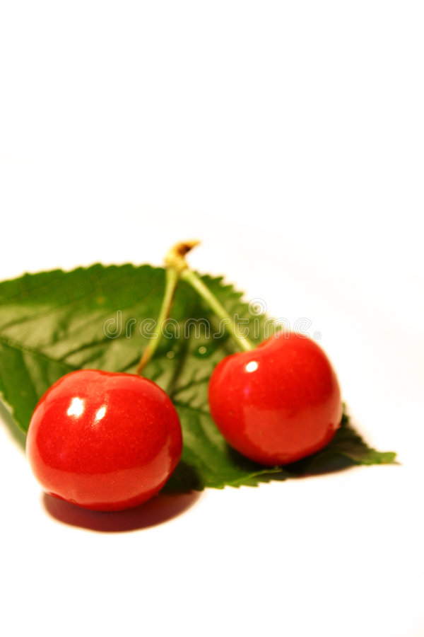2 вишни стоковое изображение