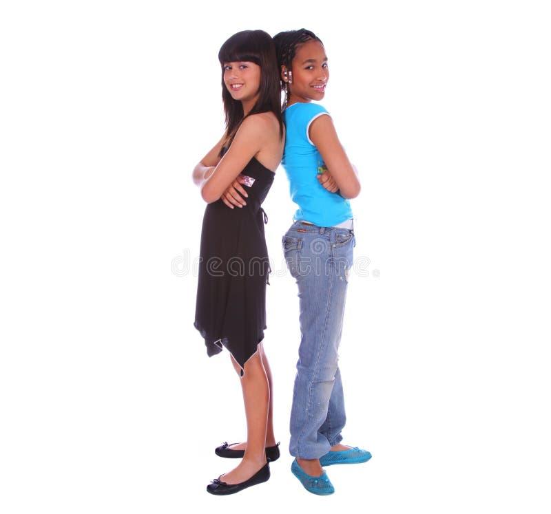 2 девушки друзей стоковое фото rf