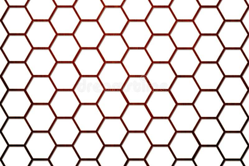 2 клетки пчелы предпосылки hive более малая древесина иллюстрация вектора