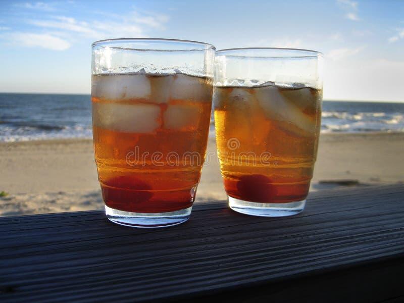 2 коктеила пляжа стоковые изображения
