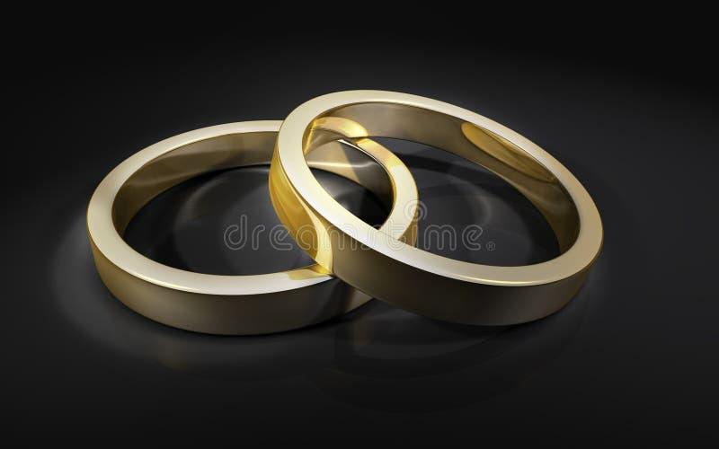 2 кольца wedding стоковая фотография