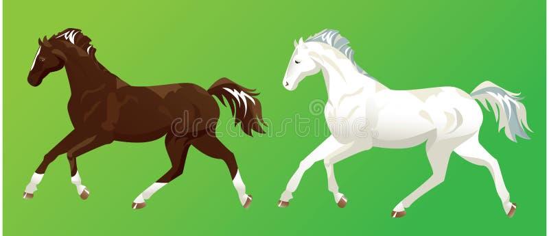 2 лошади бесплатная иллюстрация