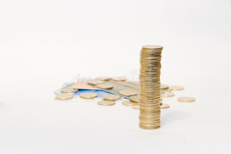 2 монетки золотистой Стоковая Фотография