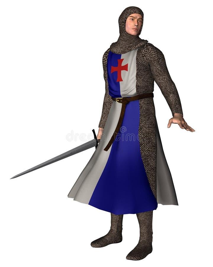 2 нормандца рыцаря иллюстрация вектора