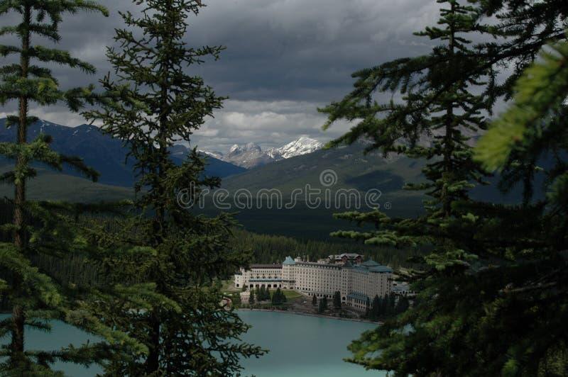 2 озеро louise стоковая фотография