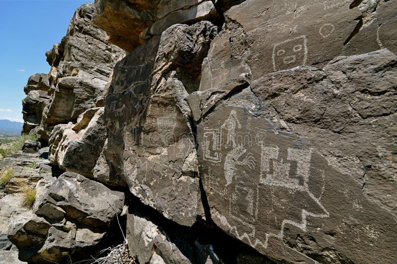 2 петроглифа galisteo Мексики новых стоковое фото rf
