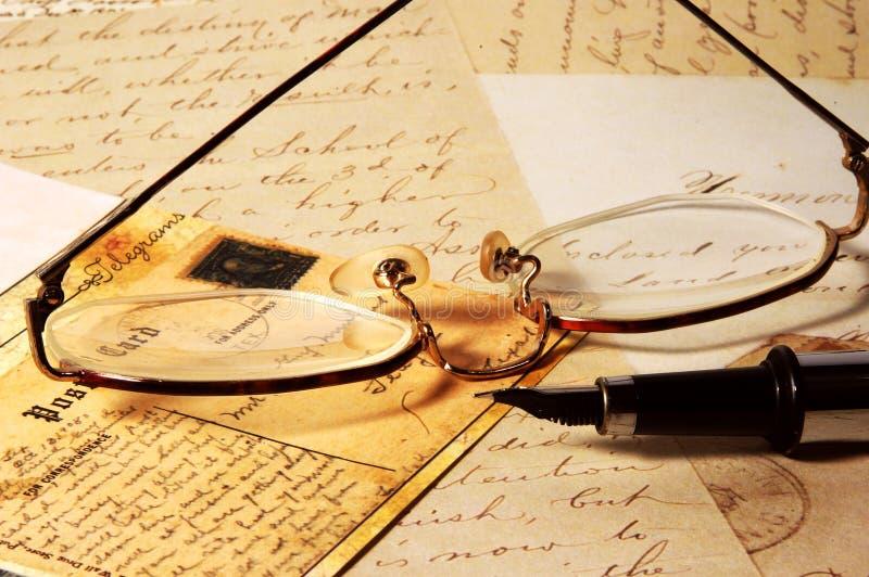 2 письма старого Стоковые Изображения
