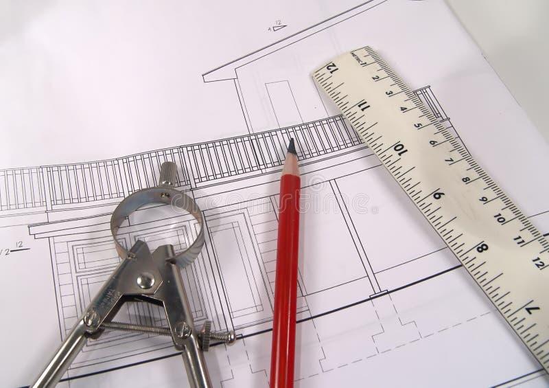 2 плана дома стоковое изображение