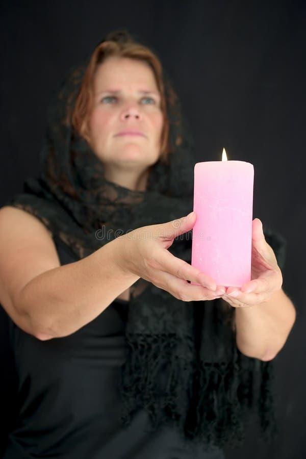 2 свечки освещает вверх стоковые изображения rf