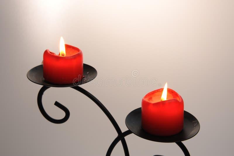 2 свечки стоковая фотография rf