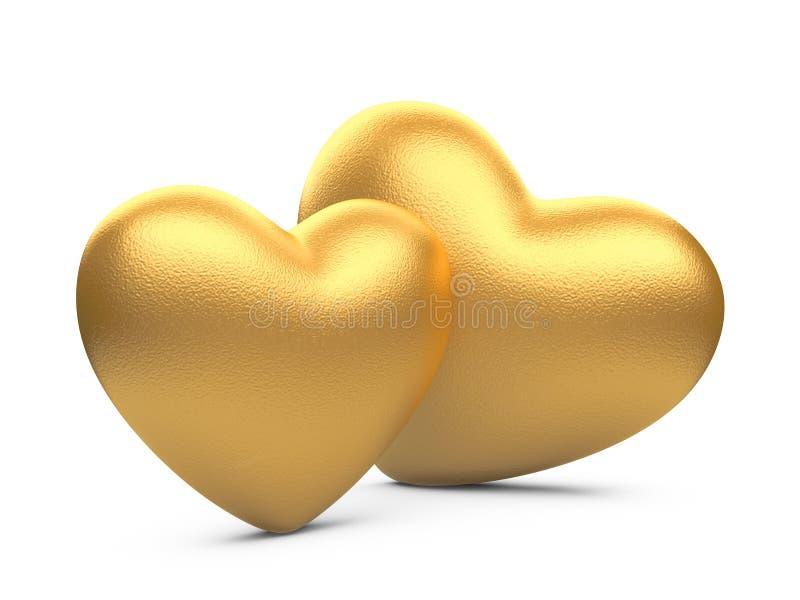 2 сердца золота бесплатная иллюстрация