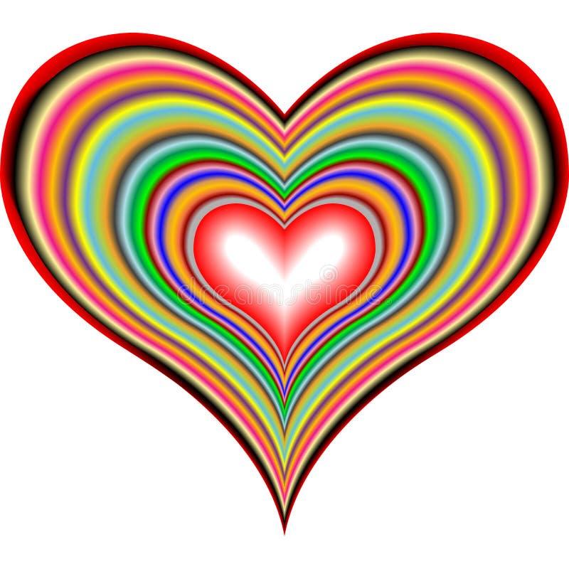 2 сердца ретро иллюстрация штока