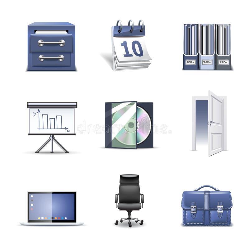 2 серии части офиса икон bella иллюстрация штока