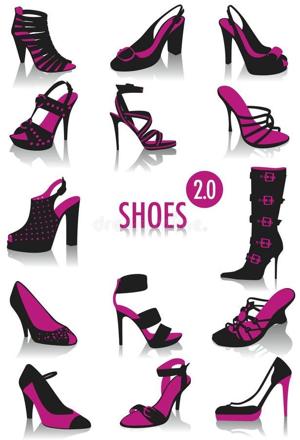 2 силуэта ботинок бесплатная иллюстрация