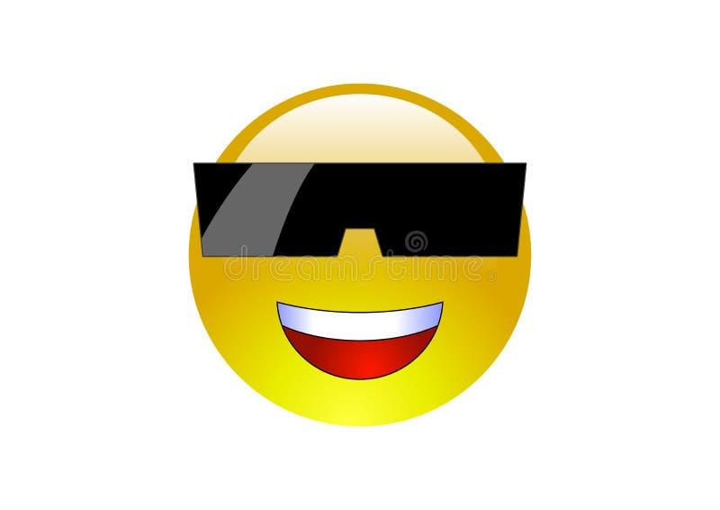 2 солнечного очк emoticons aqua стоковая фотография