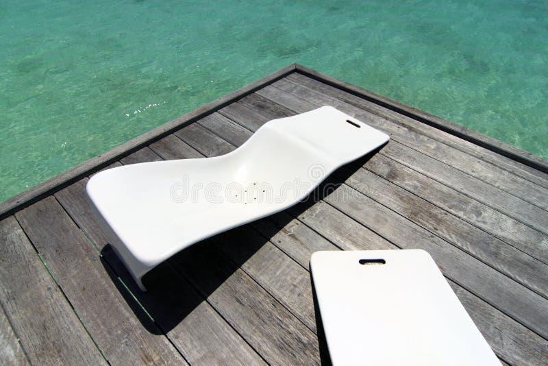 2 стула пляжа стоковые изображения rf