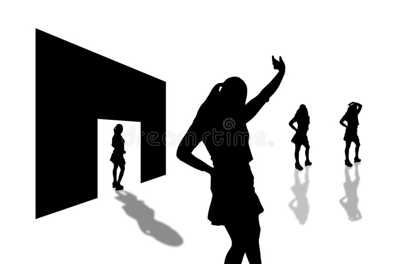 Download 2 тени входа иллюстрация штока. иллюстрации насчитывающей хорошо - 91802