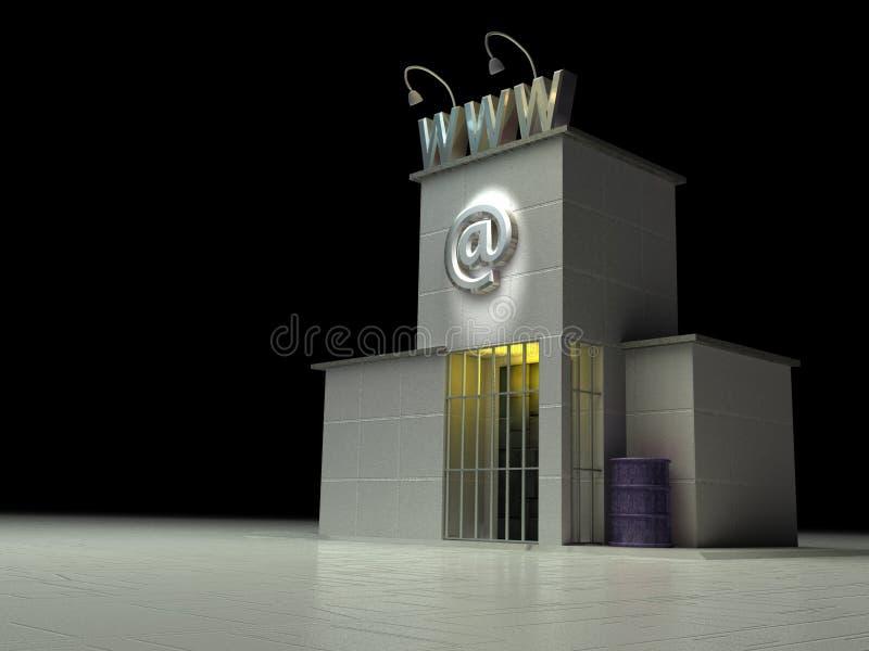 2 тюрьма www иллюстрация вектора