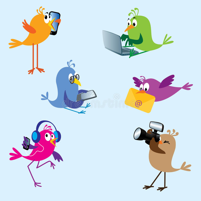 2 установленной птицы бесплатная иллюстрация