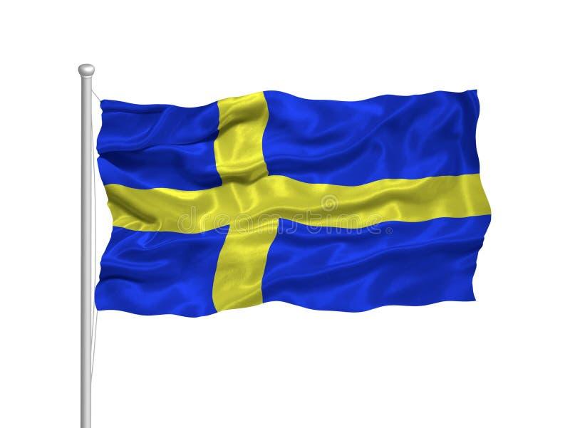 2 флаг Швеция иллюстрация вектора