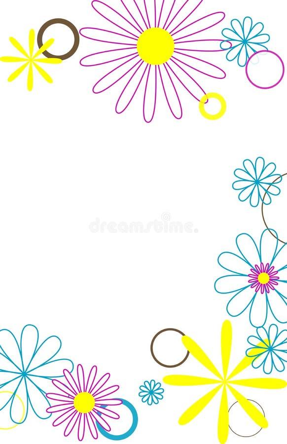 Download 2 цветка кругов иллюстрация штока. иллюстрации насчитывающей мило - 491493