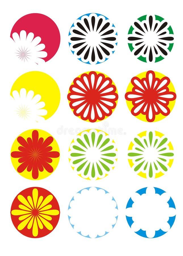 2 цветка цвета стоковое изображение