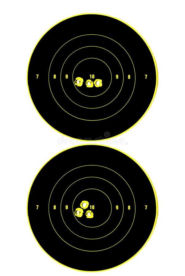 2 цели иллюстрация вектора