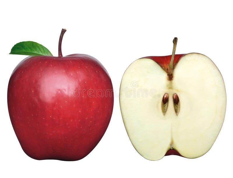2 яблока 2 стоковое изображение rf