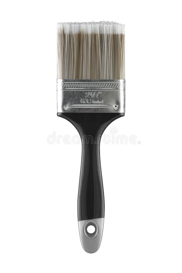 Free 2 1/2` 63.5mm Two And A Half Inch Decorators Paint Brush On White With Clipping Path Royalty Free Stock Photography - 170020177
