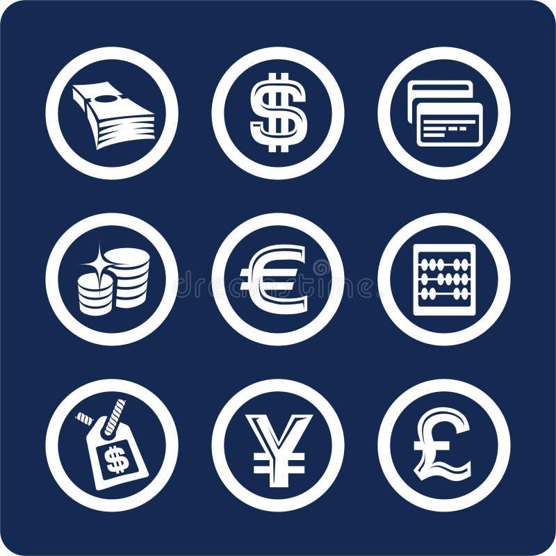 2 10 χρηματοδοτούν το σύνολο μερών χρημάτων εικονιδίων ελεύθερη απεικόνιση δικαιώματος