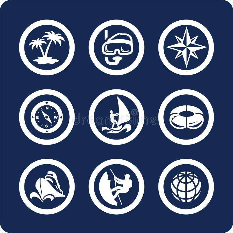 2 13 ikon części podróży wakacji ste ilustracja wektor