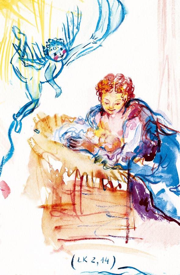 2:14 de Luk ilustração do vetor