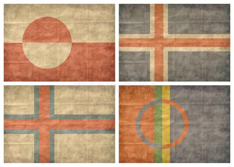 2/2 d'indicateurs de pays nordiques illustration de vecteur