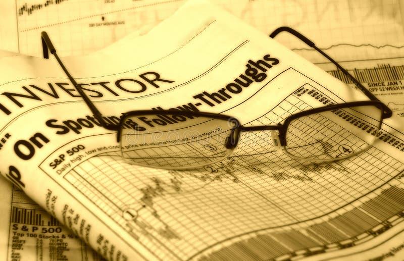 2个图表股票 图库摄影