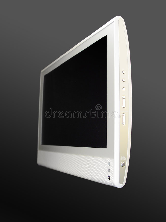 2平面屏幕电视 图库摄影