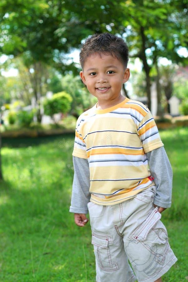 2 3个亚洲人男孩年 免版税库存图片