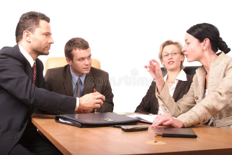 2 4个业务会议人员 图库摄影