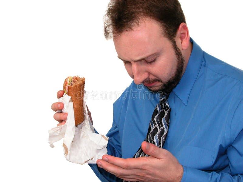 2 4中断工作午餐 库存图片