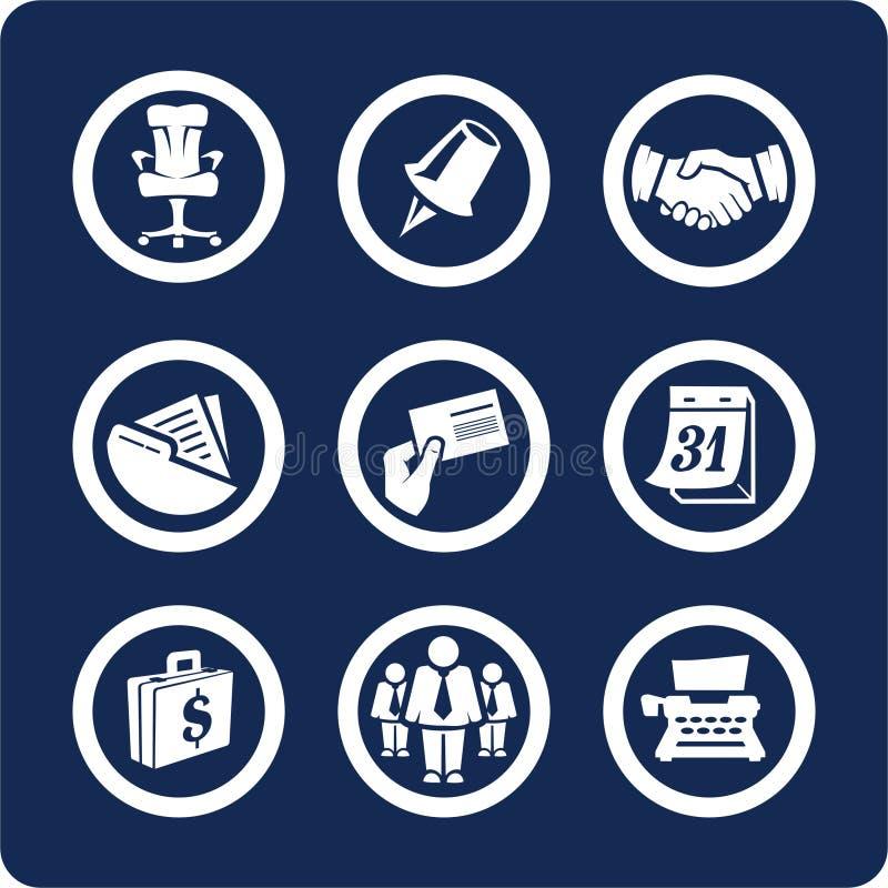 2 5个企业图标办公室零件集 库存例证