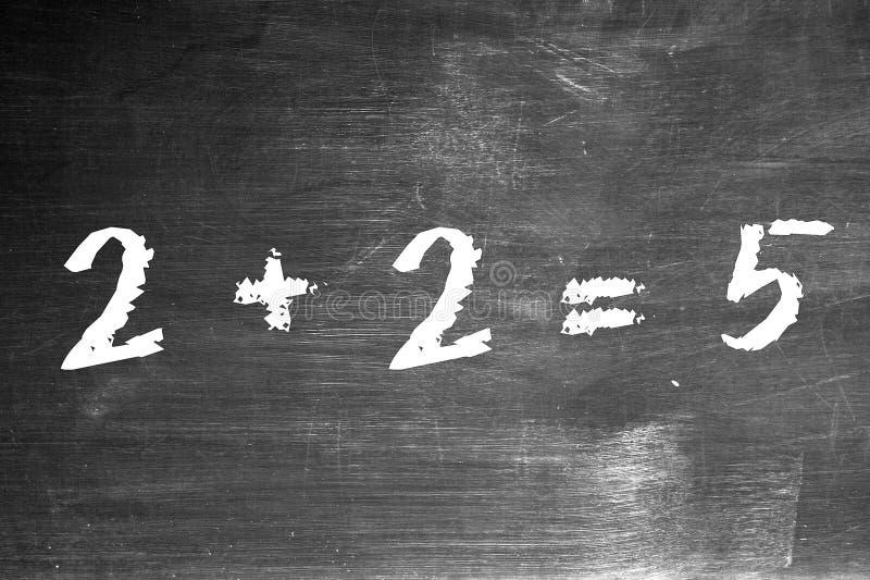 2 5 είναι ίσα με συν στοκ φωτογραφίες