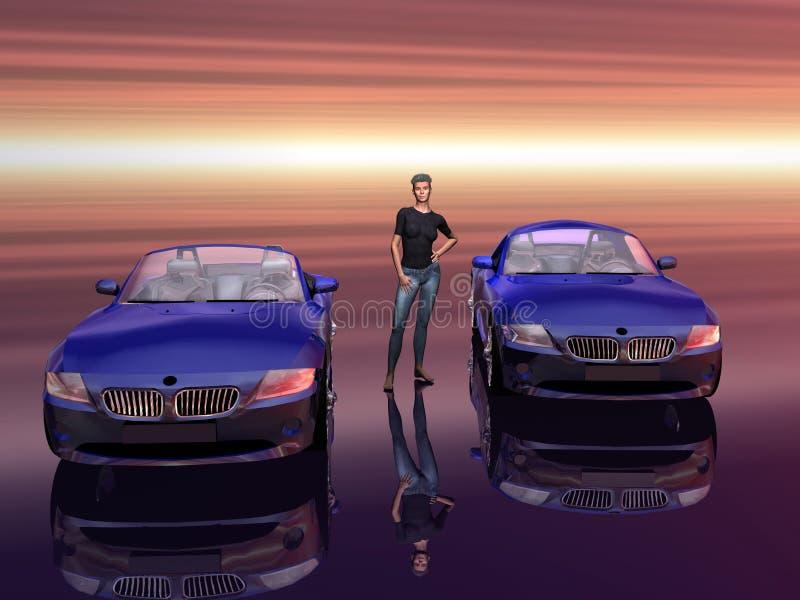 2 5 modeluję awans sportscar bmw z 4 royalty ilustracja