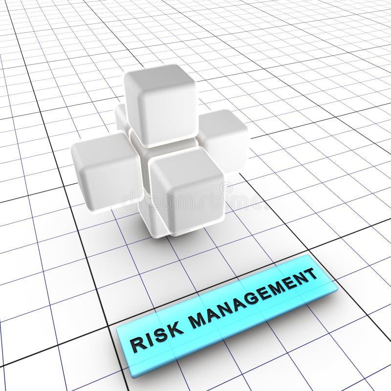 2 6个管理风险 库存例证