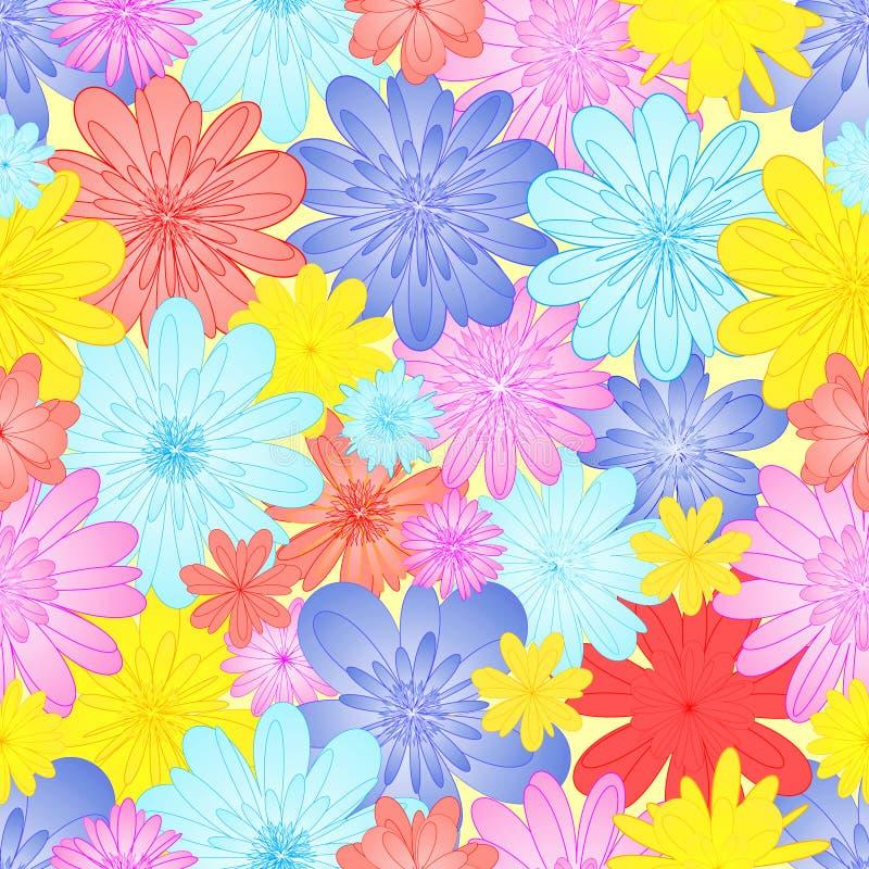 2 abstrakcjonistycznego kwiatu royalty ilustracja