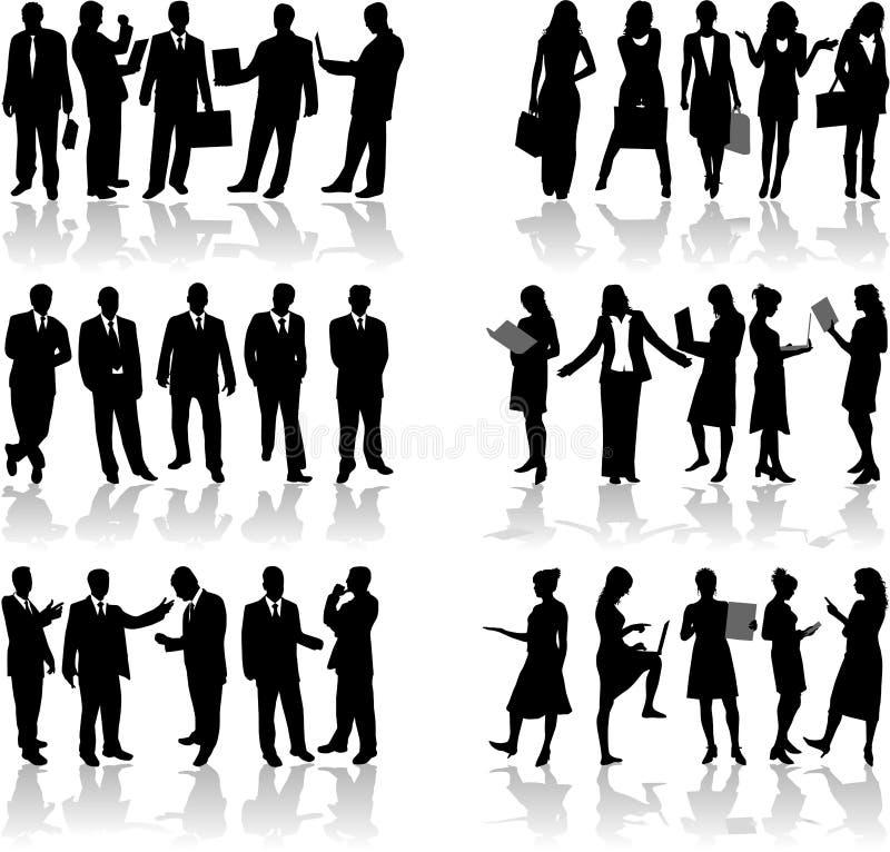 2 affärsfolk vektor illustrationer